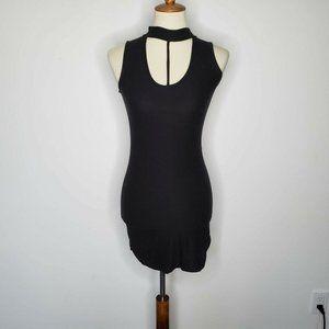 Planet Gold Black Sleeveless Bodycon Dress